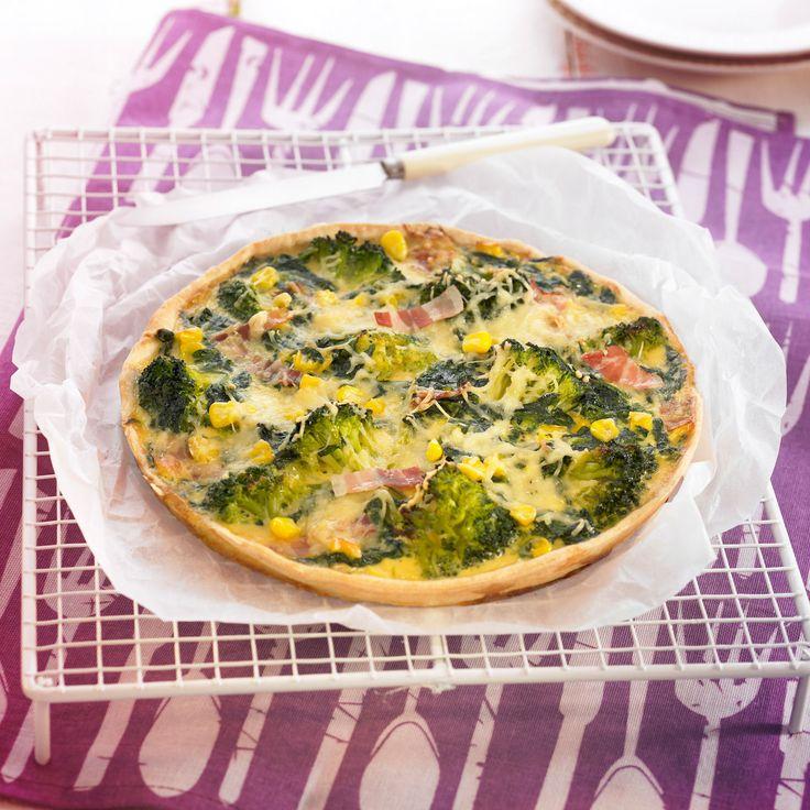 Découvrez la recette de la pizza aux brocolis