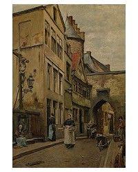 #LesXX member Piet Verhaert (Belgian, 1852-1908), De Gevangenispoort, 1880, olieverf, 38,5x28,5cm, Koninklijk Museum voor Schone Kunsten Antwerpen.