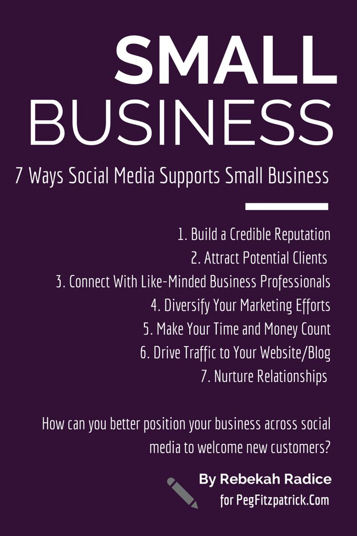 7 Ways Social Media Supports Small Business 86d85d76bc0aa96a9660386d73957257