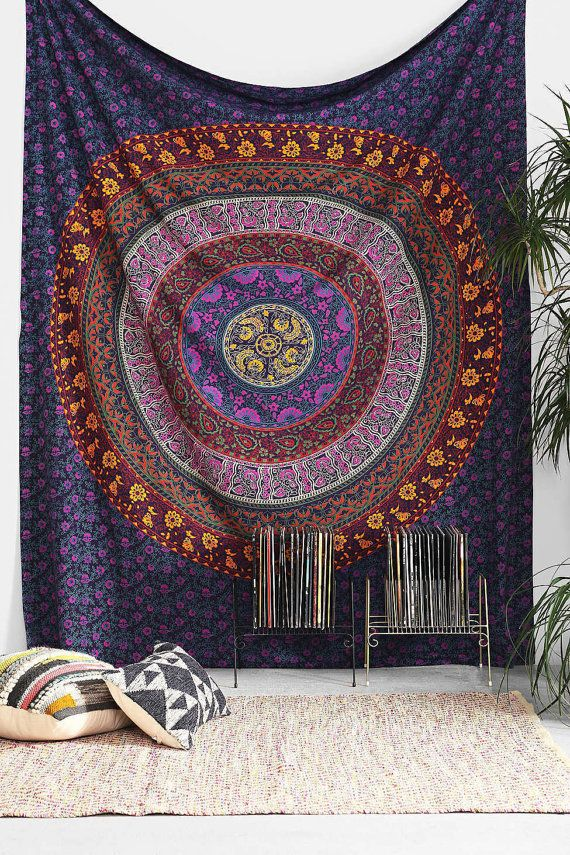 Grande tessuto indiano Mandala Hippie arazzo di KaftanBeauty