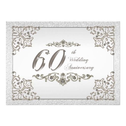 637 best 60th Anniversary Party Invitations images on Pinterest - best of invitation cards for wedding price