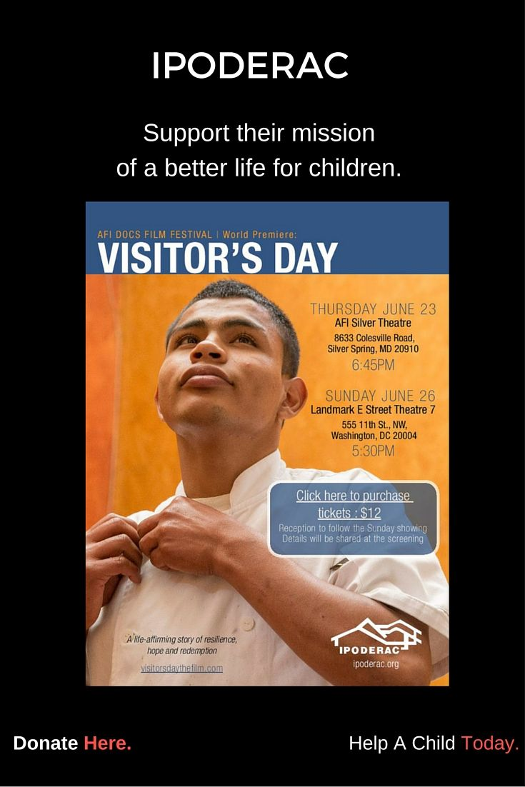 """Don't miss the powerful movie """"Visitor's Day,"""" and learn how IPODERAC helps one young boy find his way to a brighter future."""