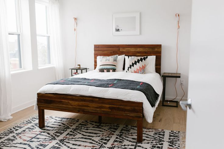 GWS Home Tour - Mid-Century Modern + Boho-Inspired Bedroom // West Elm bed frame
