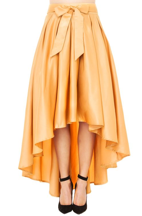 Gracia Hi Low Shine Skirt | Gold Skirt | Midi Skirts //holiday party (in black too)
