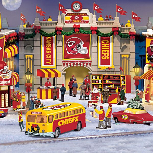 Kansas City Chiefs Christmas Village Collection We Don T
