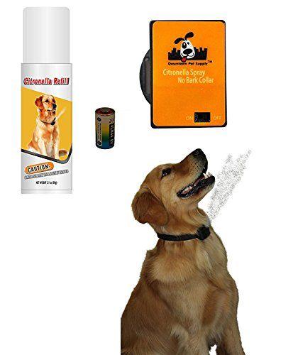 NO BARK Collar Citronella Spray Anti-Bark collar for Dogs Kit - Safe, Effective, and Humane Dog Barking Control collar