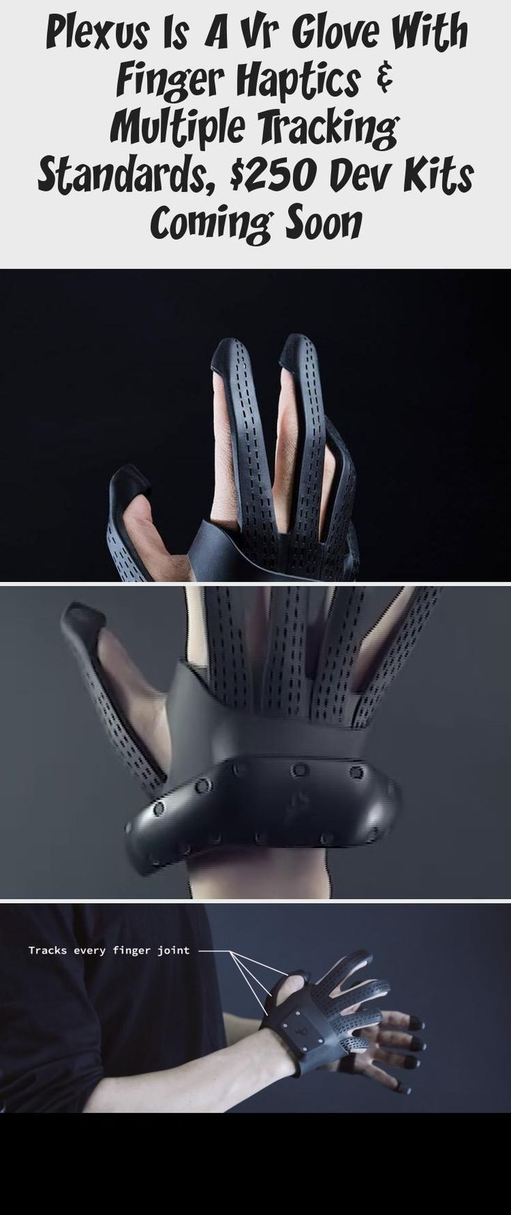 Plexus Is A Vr Glove With Finger Haptics & Multiple Tracking Standards, $250 Dev Kits Coming Soon in 2020 (With images) | Tracking standards ...