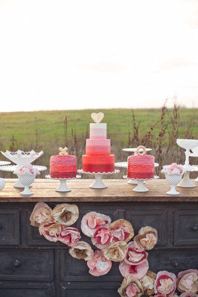 Fun triple cake spread.