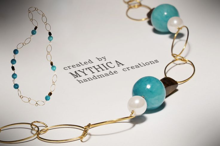 Handmade necklace by MYTHICA! The summer is here! Follow us on facebook:mythica handmade creations Official site:www.mythica.gr
