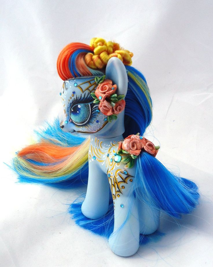 My little pony custom Martha Rosa Dia de muertos by AmbarJulieta.deviantart.com on @deviantART