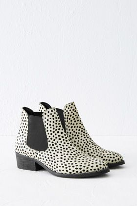 Check out this Animal Print Chelsea Boots from Warehouse.
