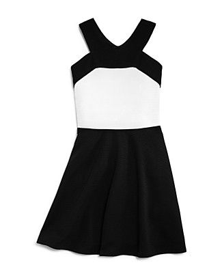 Sally Miller Girls' Textured Color-Block Dress - Big Kid