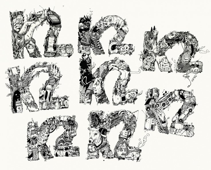 Drawings for K2's 2011 Hellbent collection