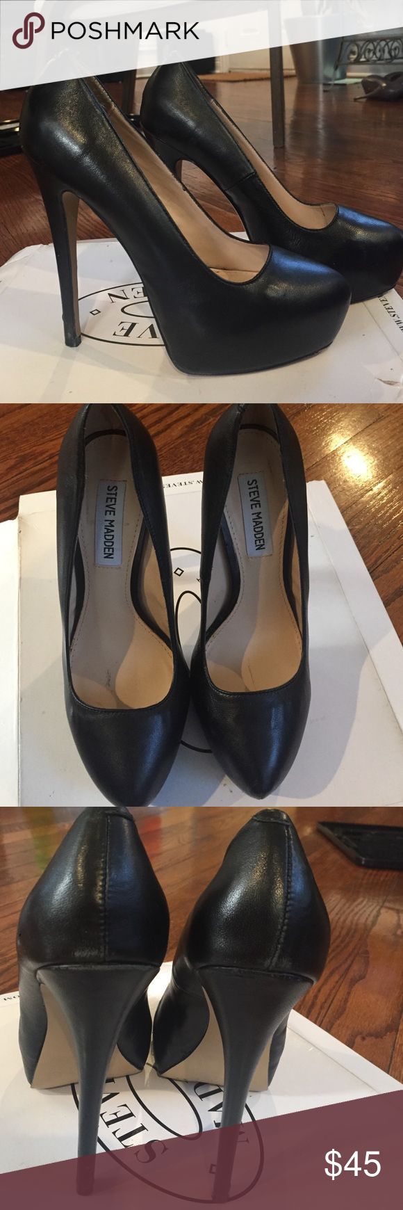 Black Steven Madden Heels Black platform pump. Only used a couple times. Like-new condition. Steve Madden Shoes Heels