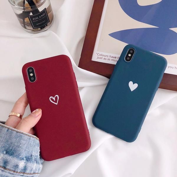 Matte phone cases for iphone X XR XS XS Max love h…