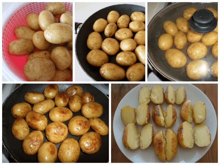 Taze patatesi bir kez böyle deneyin derim. Fırın yakmadan aynı fırında pişmiş tadını alacaksınız. Gerçekten nefis oluyor. Afiyet olsun.