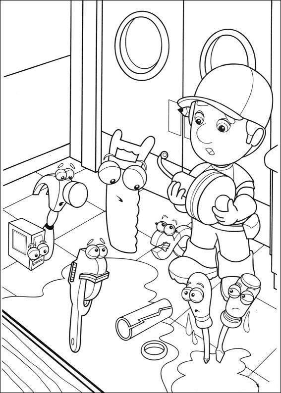 Disney Handy Manny Coloring Page Source Kids N Fun