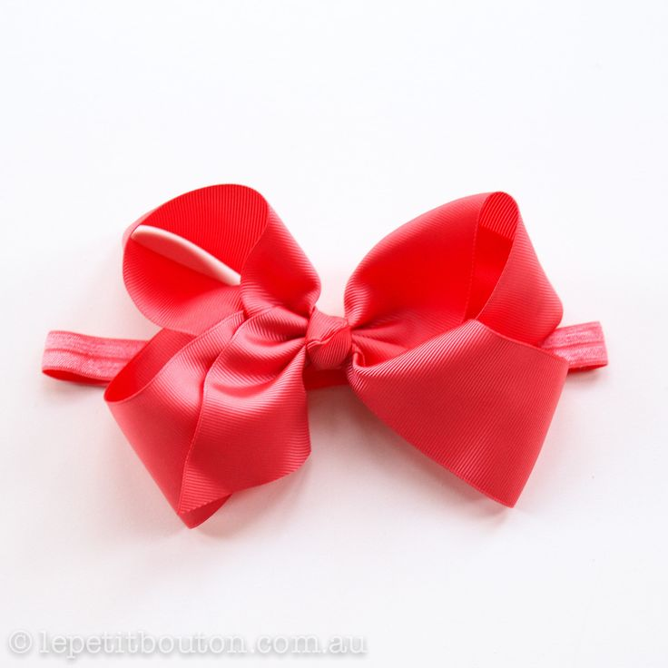 "Large Bow ""Abby"" Coral – Le Petit Bouton"