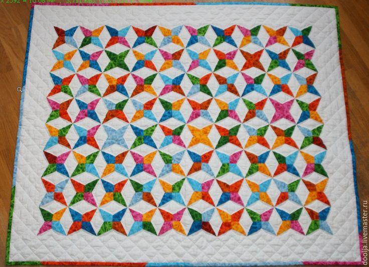 """Купить Одеяло для малыша """"Радужное"""" - одеяло, подарок, лоскутное шитье, комбинированный, детское лоскутное одеяло"""
