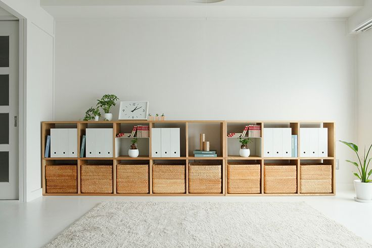solid wood modern storage muji - Google Search More