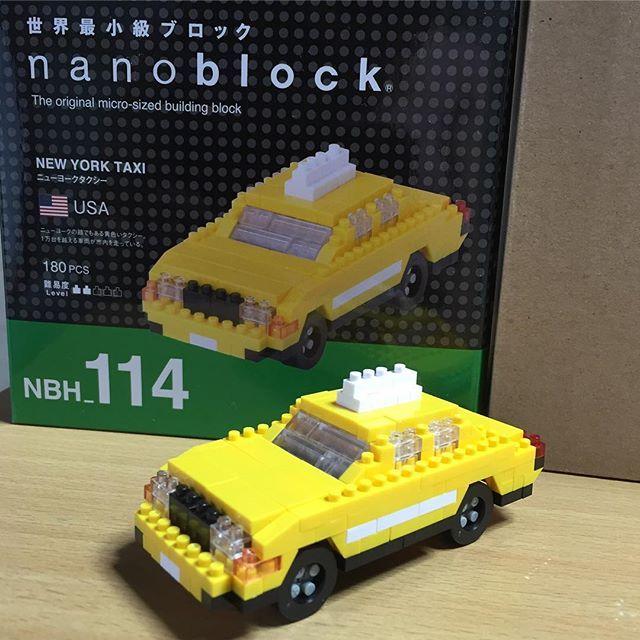 集中して作るの好き❤️ * #世界最小級  #nanoblock  #ナノブロック  #NEWYORKTAXI  #ニューヨークタクシー