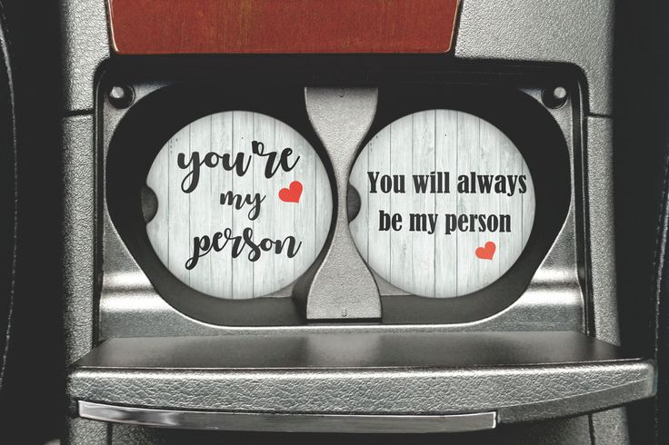 You're My Person Car Coaster - Cup Holder Coasters - Personalized Sandstone Coasters -  Car Accessories For Women - Gifts For Her by MysticCustomDesignCo on Etsy
