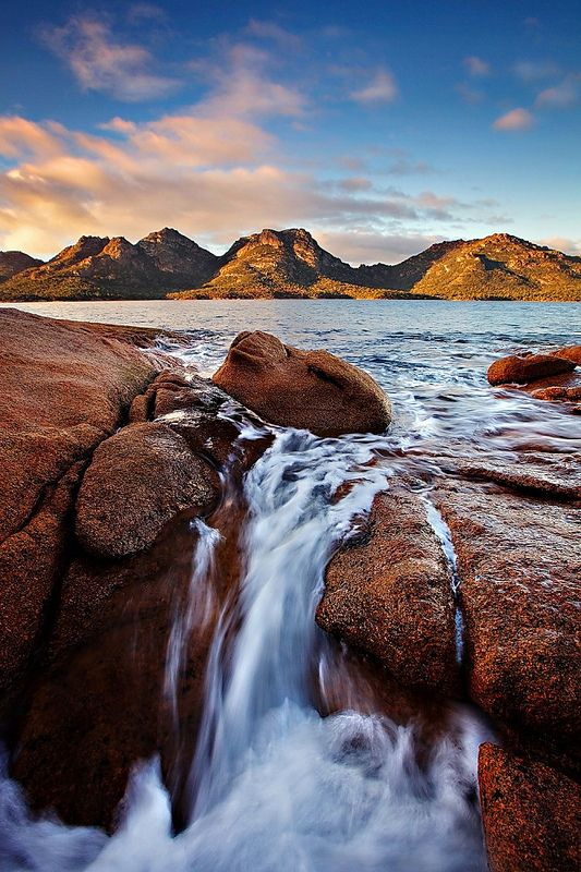 The Hazards Falls, Tasmania, Australia by Tim Donnelly
