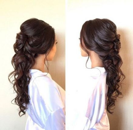 Bridal Hairstyles For Long Hair Sideswept Bachelorette Parties 29+ Ideas
