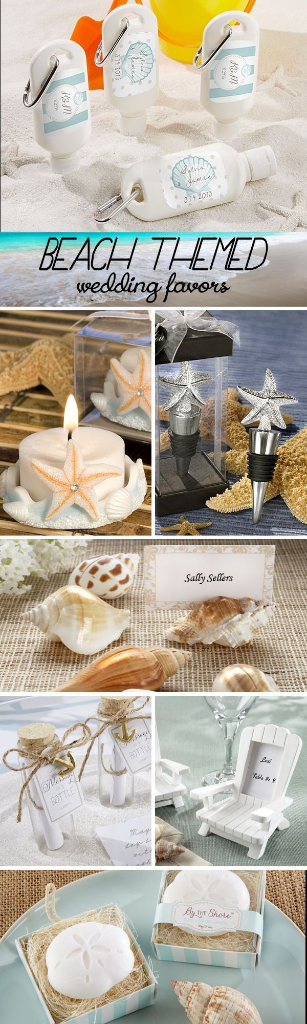 100 Beach Themed Wedding Favors that your guests will love!