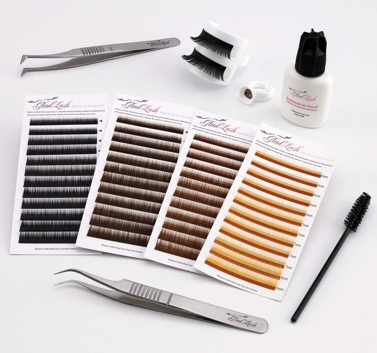 Glad Lash Starter Eyebrow Extension Kit 42 piece Eyebrow Extension Starter Kit comes complete with a collection of eyebrow extensions in the most popular colors. Perfect for those launching a new eyebrow extension business or adding this exciting new service to an existing one. If purchased separately the items would retail for more than $150. Includes enough product for approximately 30 applications.