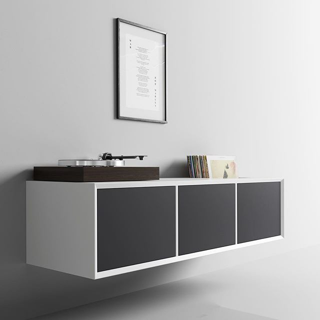 Visual silence... #danish #design #clic #clicfurniture #simple #solution #hifi #music #system #turntable #vinyl #furniture #hear #beauty #see #beauty #hide #everything #else