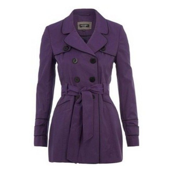 Jacket: purple trench coat ❤ liked on Polyvore featuring outerwear, coats, purple coat, trench coats, purple trenchcoat and purple trench coat
