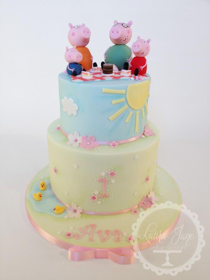 Cake Peppa Pig Pinterest
