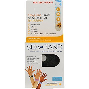 Sea-Band Child Wristband, Drug Free Travel Sickness Relief, 1 Pair