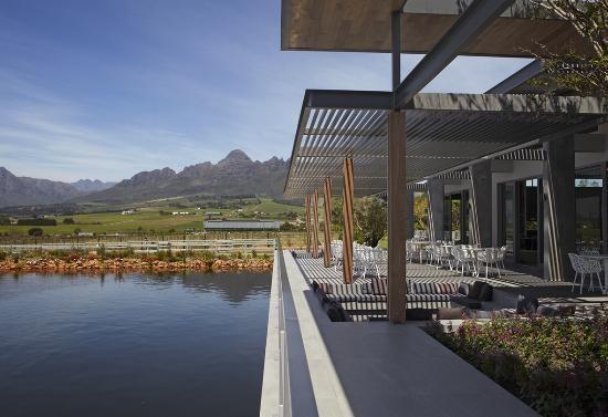 Equus Restaurant 40 minutes from Franschhoek and La Clé des Montagnes- 4 luxurious villas on a working wine farm