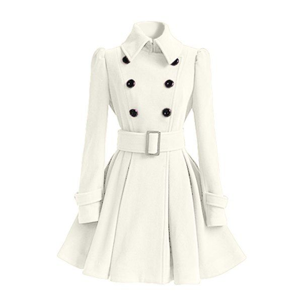Collection White Winter Coat Pictures - Reikian