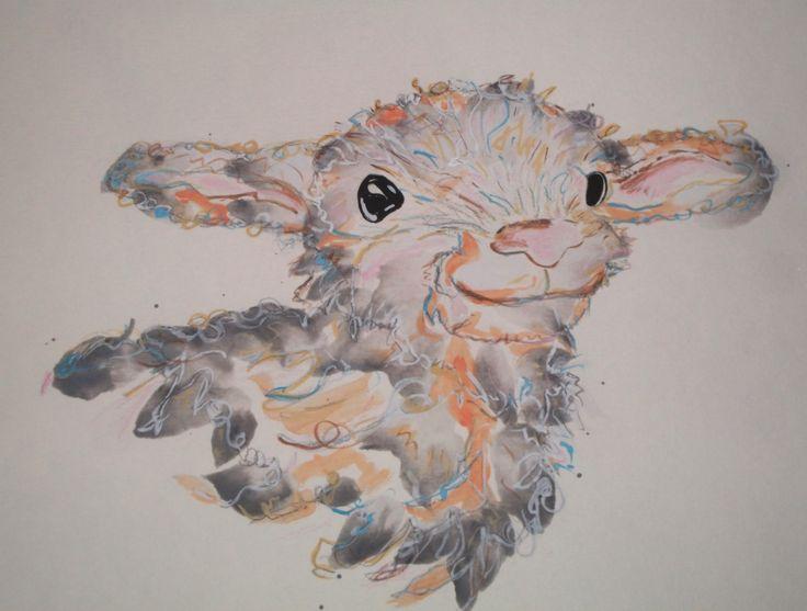 Lamb - water colour