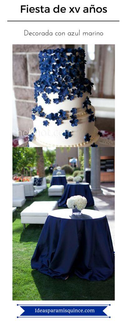 Las 25 mejores ideas sobre decoraciones de fiesta azul en for Mesas y sillas para xv anos
