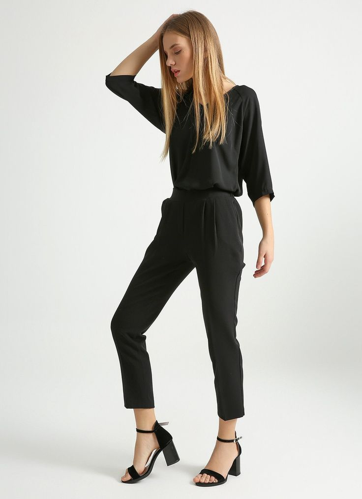Elastic Waist Fabric Pants