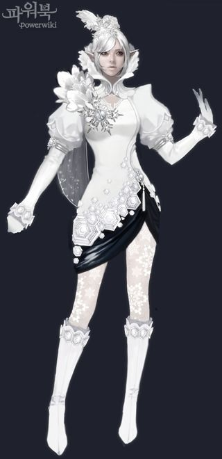 Snow and lace inspired character. She's so pretty!