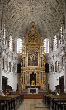 High altar of St. Michael's Church, Munich