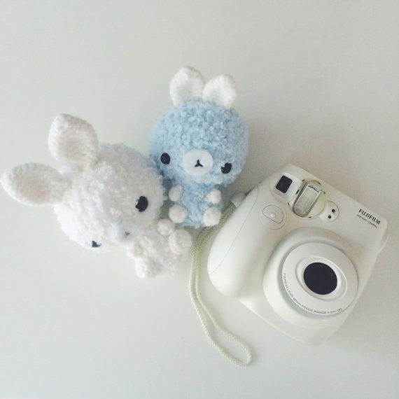 amigurumi fluffy bunnies by iddybiddyknits on Etsy