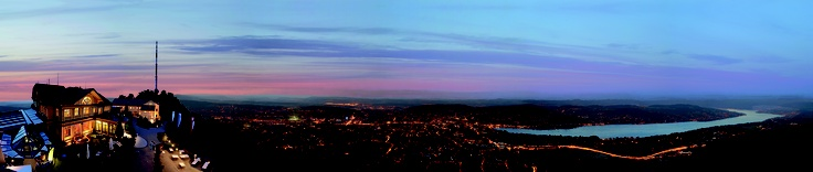 Sunset over Zurich - view from Uetliberg