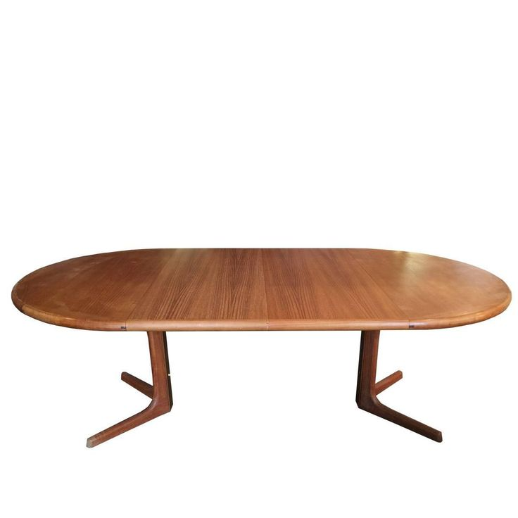 Oval Danish Teak Dining Table by Drylund | From a unique collection of antique and modern dining room tables at https://www.1stdibs.com/furniture/tables/dining-room-tables/