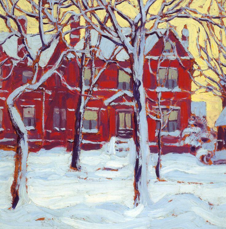 RT Toronto in winter ~ Lawren Harris -- Group of Seven  Les paysages urbains ne sont pas souvent associés au Groupe des Sept.