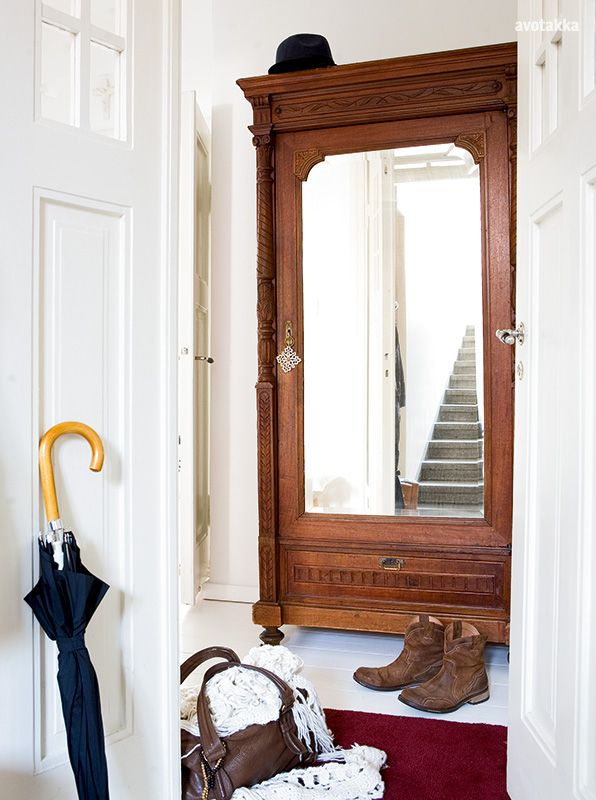 A Big Old Wardrobe In Your Entrance (if You Have Room) Is Great For