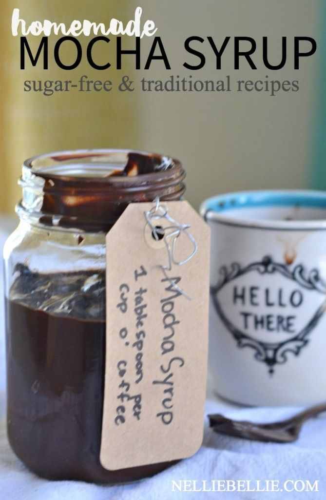 Make your own mocha syrup with only 4 ingredients. FOUR. Quatro. And it's easy, fast, and delicious! Save yourself some money at the coffee shop!