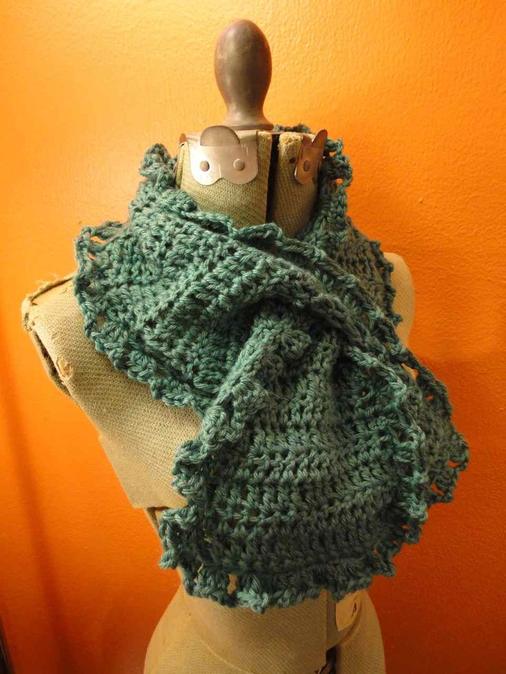 Crochet Pattern Keyhole Scarf : 17 Best images about ascot or keyhole scarves to knit ...