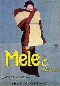 Mele& C.i,  confezioni per signora, massimo buon mercato, Napoli - Marcello Dudovich