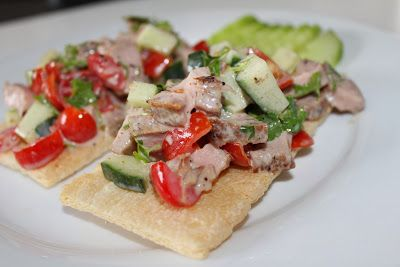 Hungry Hubby And Family: COHEN DIET: Steak, Coriander Salad Sandwich
